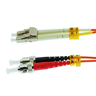 1m ST-LC Duplex Multimode 62.5/125 Fiber Optic