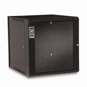 12U Swing Out Wall Mount Cabinet Glass Door