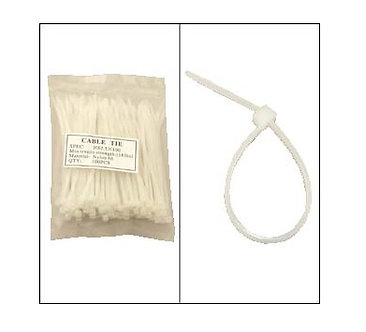 """6"""" Nylon Cable Tie 40lbs 100pk"""