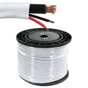 500Ft RG59 w/2x18AWG Power White CM