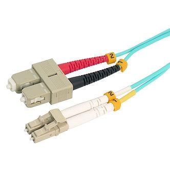 8m LC-SC 10Gb 50/125 OM4 M/M Duplex Fiber Cable