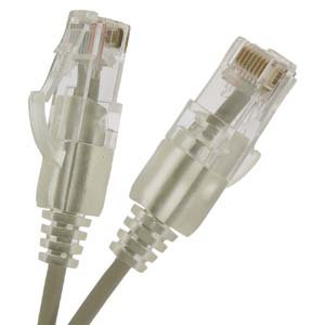 4Ft Cat6 UTP Slim Booted Patch Cable Gray