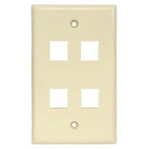 4Port Keystone Wallplate Smooth Face