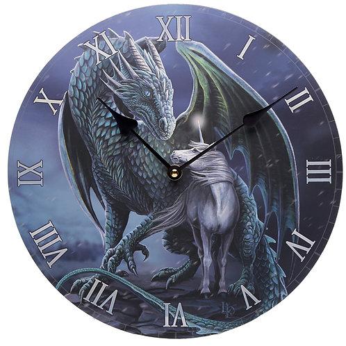 Dragon & Unicorn Protector Magic Lisa Parker Wall Clock