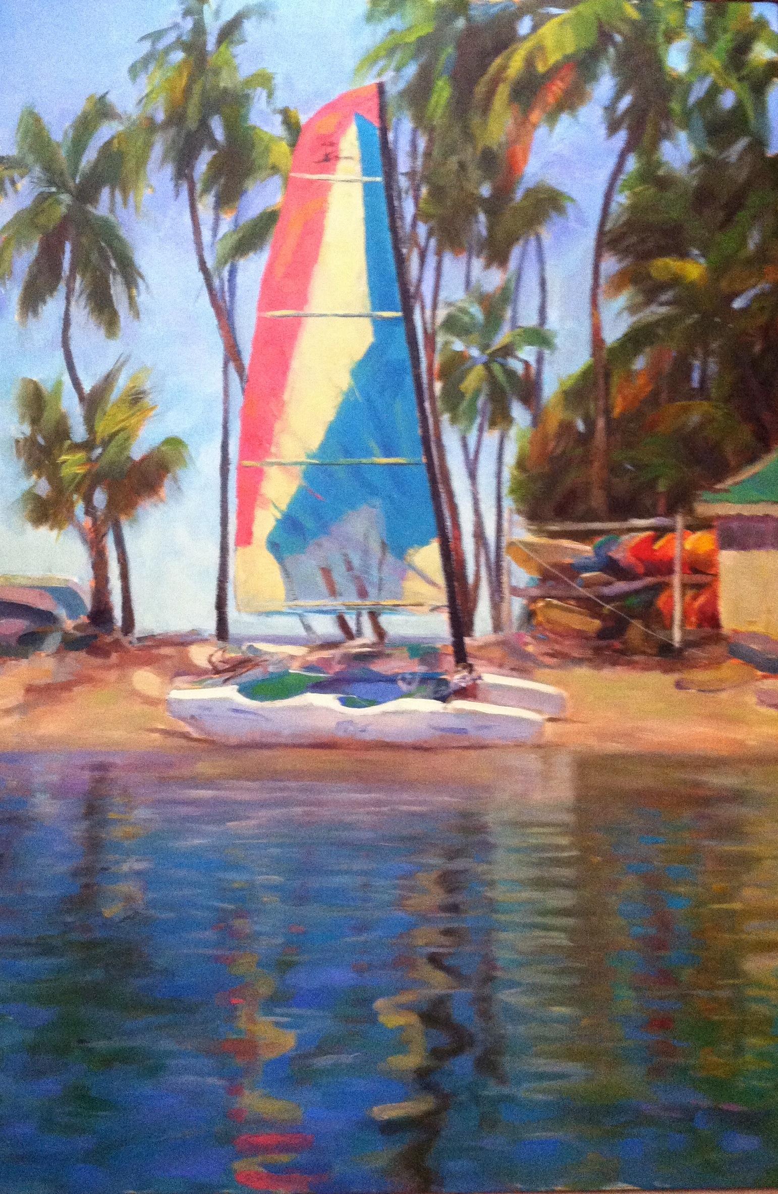 SailingAtNoon_OilOnCanvas_PatriciaSorg