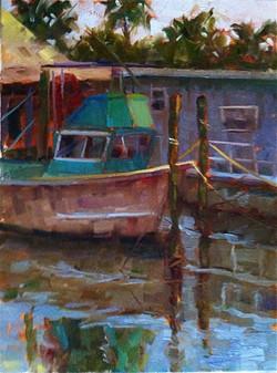 Cortez Boat in Shadow