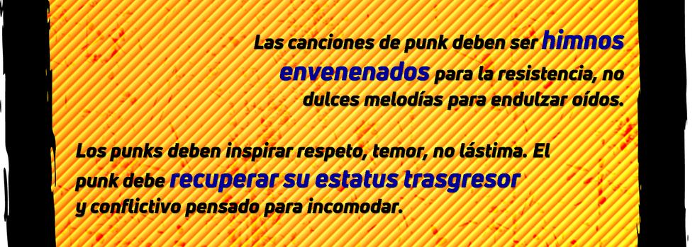 El punk como amenaza