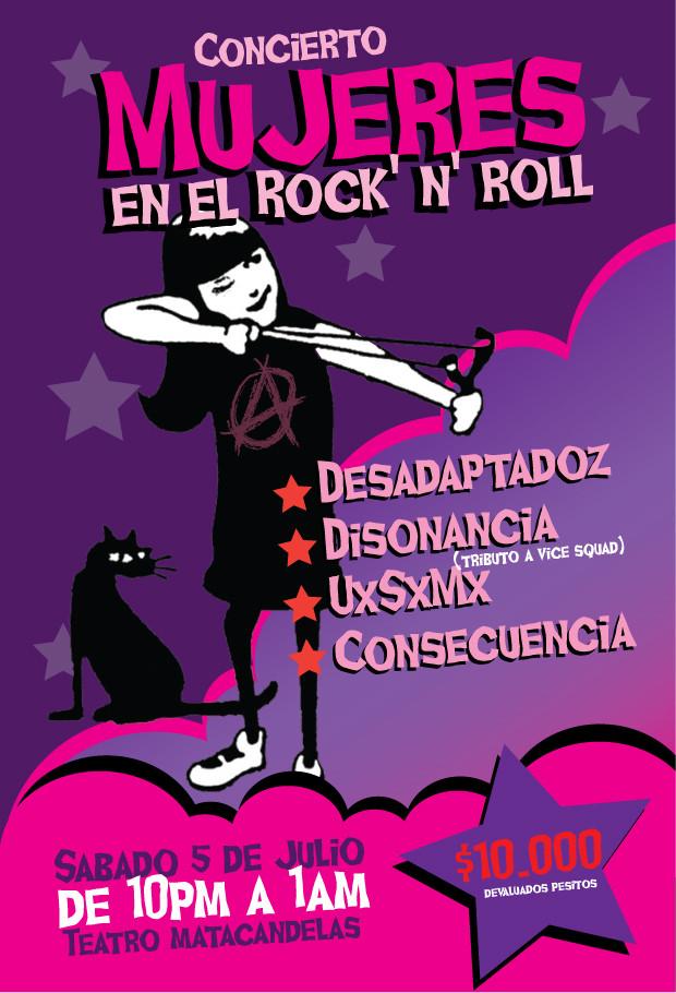 Concierto Mujeres en el Rock and Roll