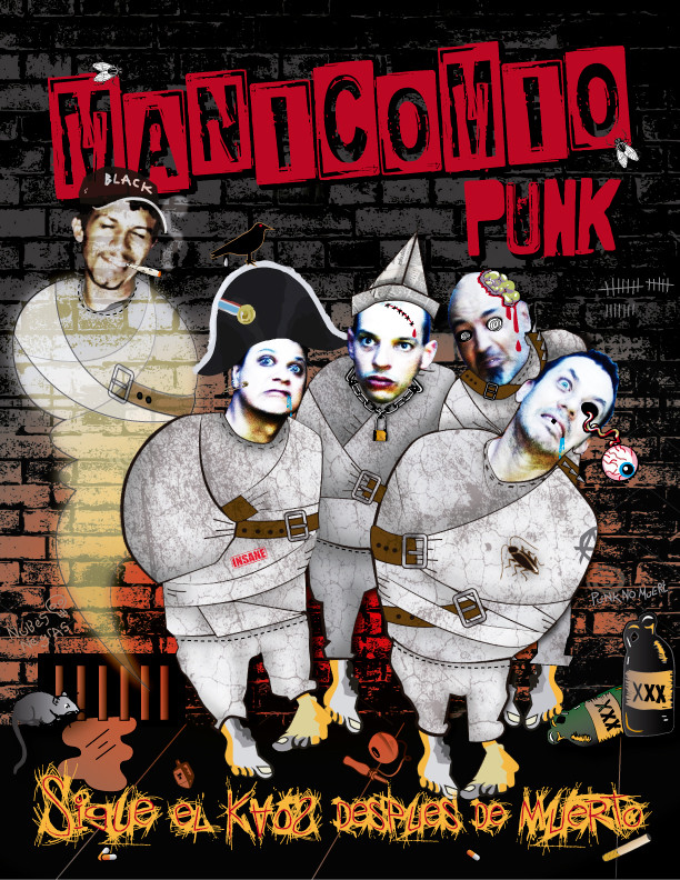 Caratula Manicomio Punk Sigue el Caos despues de la muerte