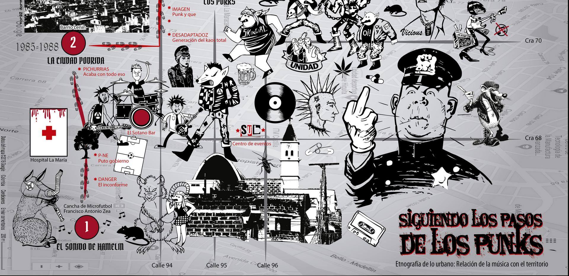 Mapa Punk Castilla