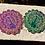 Thumbnail: Etched Mandala Peacock Coasters