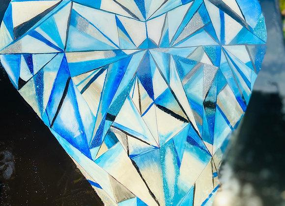 Resin Pour Painting - Diamond