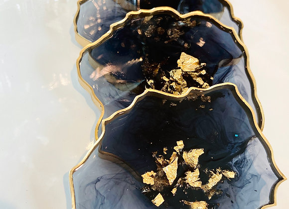 Black N Gold Coasters