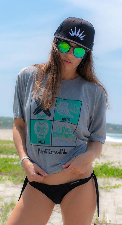 Women's Grey Oasis T-Shirt
