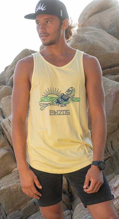 Men's Erizos Yellow Tank