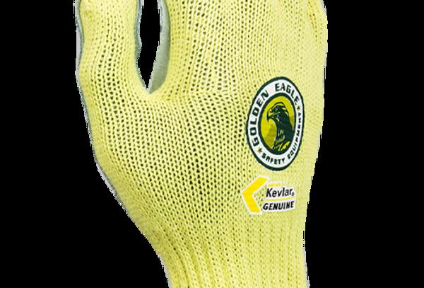 Guante anti-corte A2 Kevlar® y algodón pesado palma carnaza GE 9371
