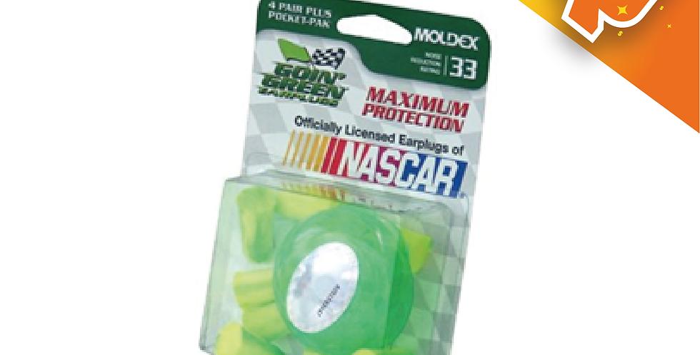 JUEGO DE 4 PARES DE TAPONES C/ESTUCHE MARCA MOLDEX-NASCAR