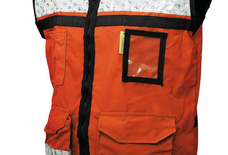 Chaleco rescatista anaranjado ligero cerrado Jyrsa SR-2050ANCR