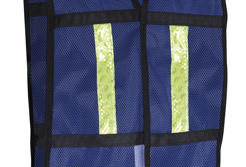 Chaleco de malla azul de A.V. con ref. textil Jy SR-1012AZCR