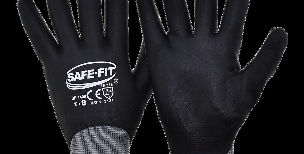 Guante nylon gris recubrimiento nitrilo T7 SAFEIT 1400