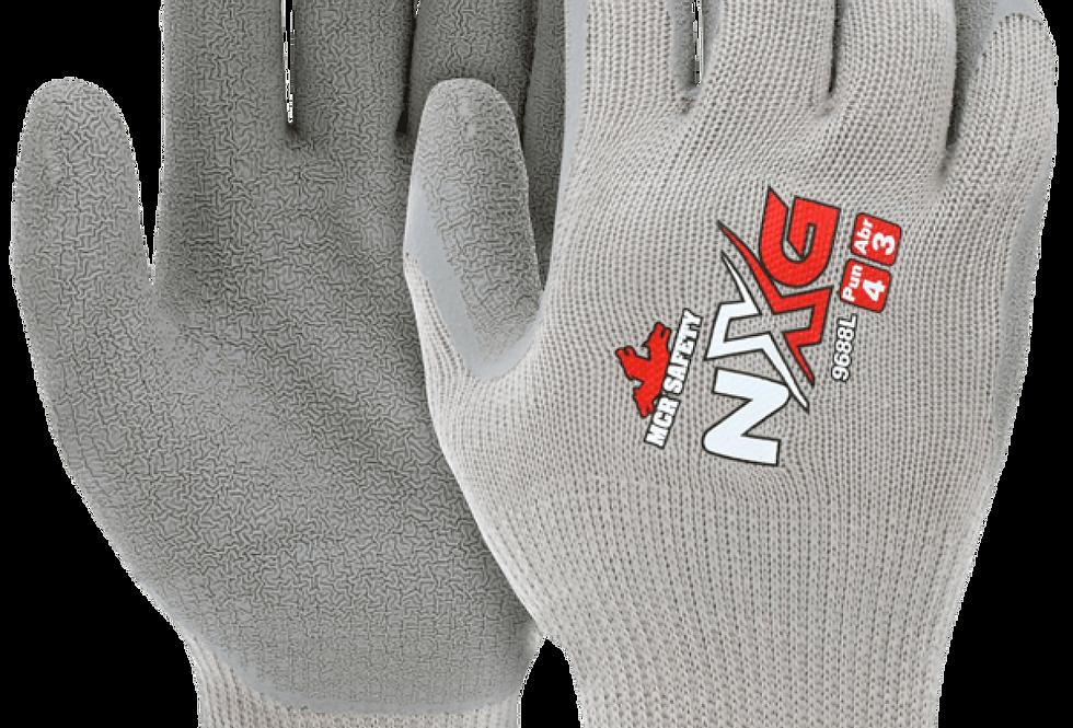 Guante algodón/poliéster recubierto de látex gris texturizado MCR Safety 9688