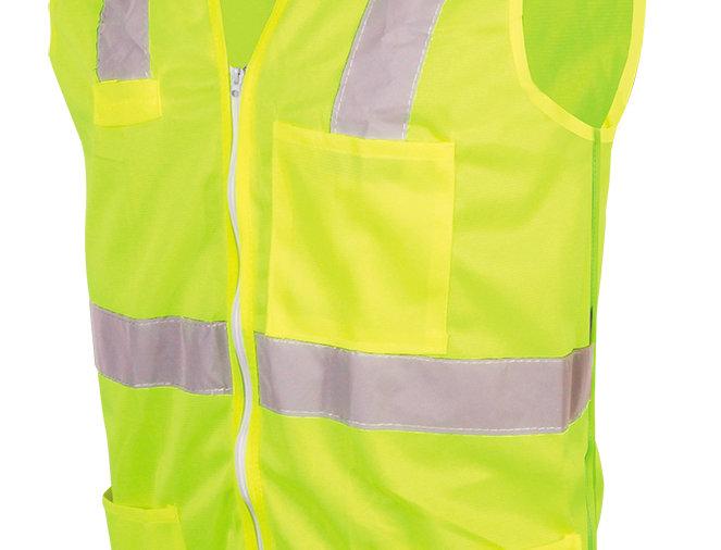 Chaleco amarillo de alta visibilidad con zipper TM Jyrsa SR-1020AMCR