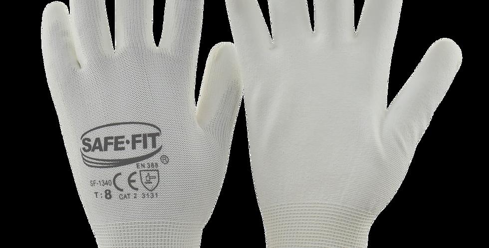 Guante nylon recubrimiento PU blanco T7 SAFEIT 1340
