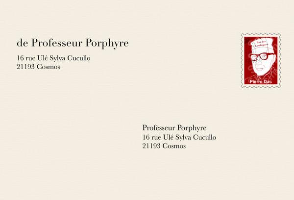 La lettre du professeur Porphyre
