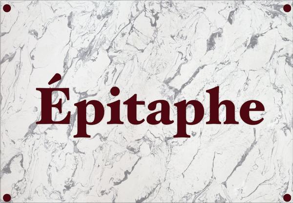 Professeur Porphyre : Épitaphe