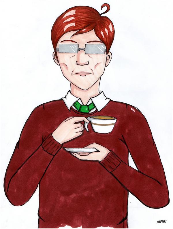 L'homme et son thé