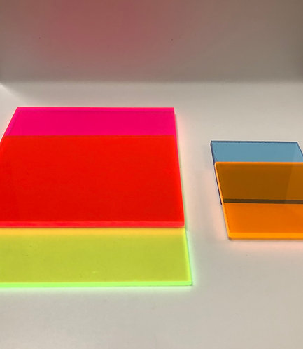 Florescent Colored Acrylic