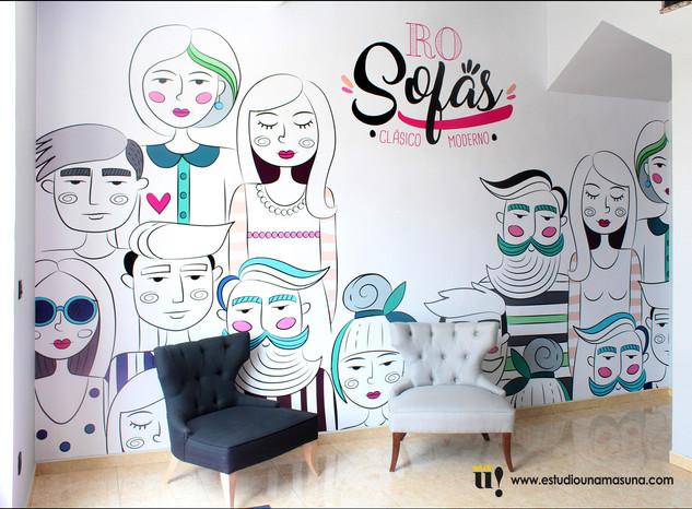 Diseño ilustración para oficinas