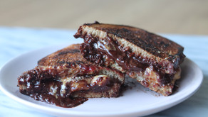 Dark Chocolate Banana PB & J Sandwich