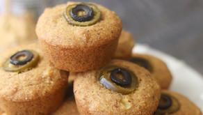 Ghoulish Eyeball Cornbread Muffins (Vegan)