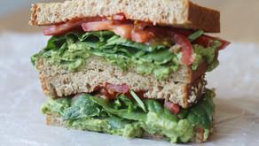 Avocado Edamame Mash Sandwich