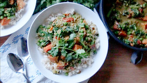 Vegan Sweet Potato & Kale Lentil Curry