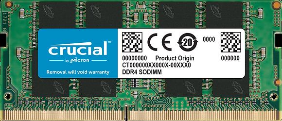 DDR 4 8GB PORTATIL CRUCIAL 2666