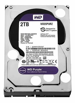 SATA 2TB PC WESTERN DIGITAL PURPURA