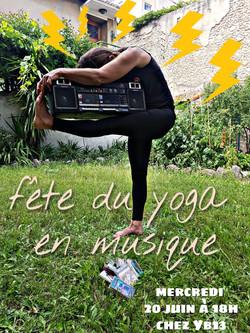 Affiche yoga en musique