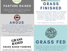 Food Labels Uncovered: Pasture Raised vs. Grass fed vs. Grass Finished?