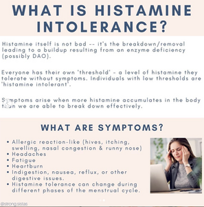 symptoms of histamine intolerance