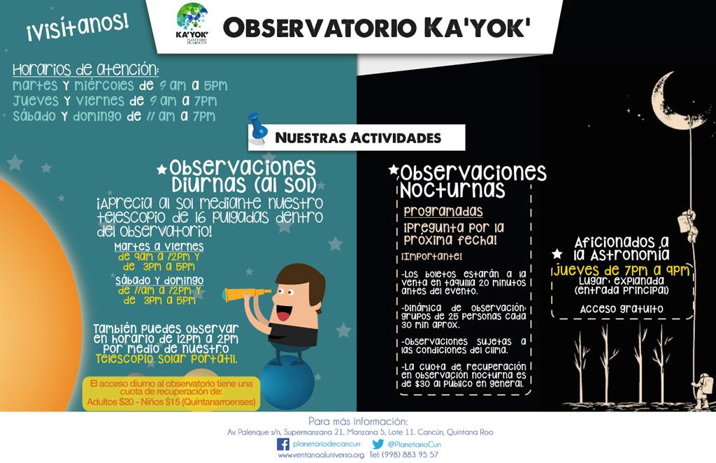 Observatorio (Horarios)