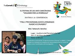 Tatiana Sánchez 12pm PAU-CONABIO