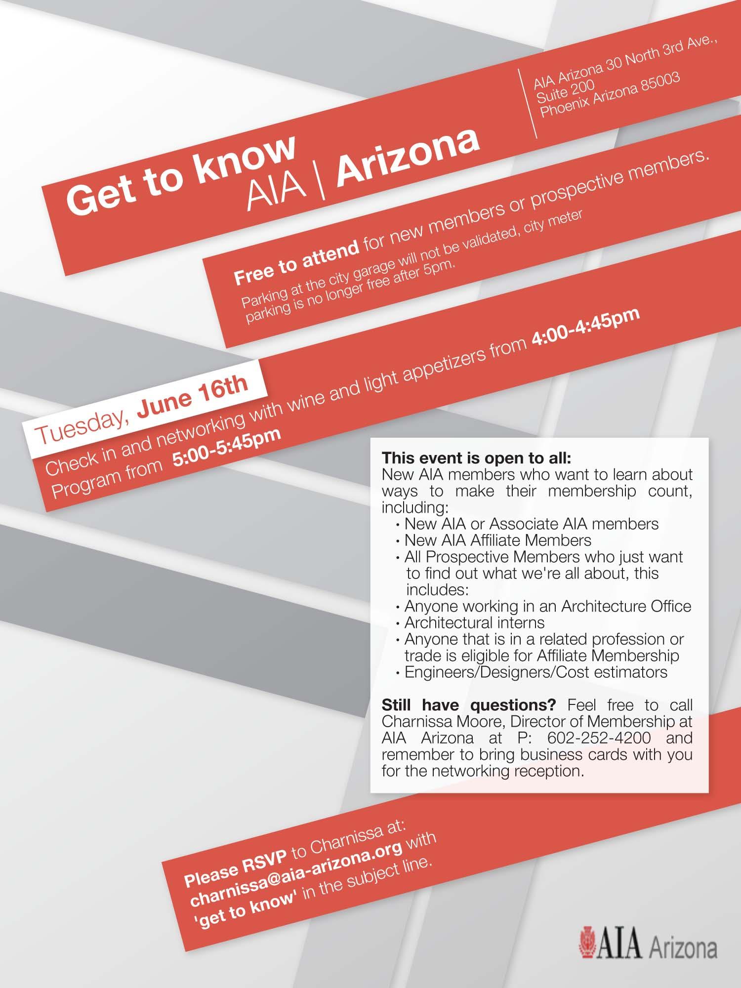 AIA Phoenix Metro Event Poster