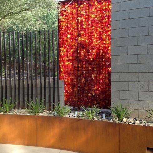 Garden Wall | Hummingbird House | Paradise Valley, Arizona