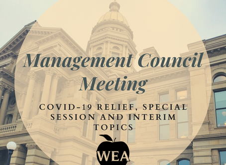 Management Council Meeting: COVID-19 Relief, Special Session and Interim Topics