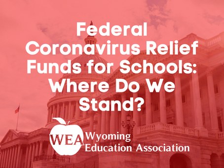Federal Coronavirus Relief Funds for Schools: Where Do We Stand?
