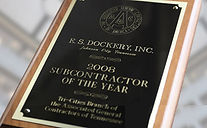E.S. Dockery, Inc is a Two-Time winner of the Tri-Cities Branch Subcontractor of the Year Award