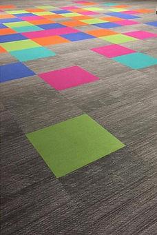 Commercial Carpet - Colorful Carpet Squares