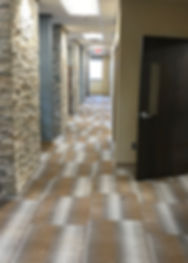 Medical Facility - Commercial Carpet & Ledger Stone Wall